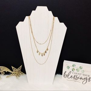 Jewelry - Delicate Triple Strand Gold Necklace